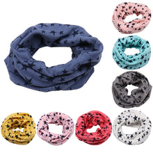 Load image into Gallery viewer, Baby Cotton Neck Scarf Cute Print Children Warm Scarf Kids Collars Autumn Winter Boys Girls O Ring Scarf Baby Cloth Accessories - shopbabyitems