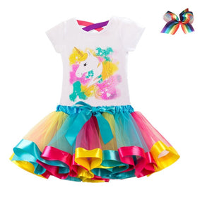 Baby Girl Birthday Dress Rainbow Unicorn Kids Dresses For Girls 2 3 4 5 6 - shopbabyitems