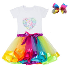 Load image into Gallery viewer, Baby Girl Birthday Dress Rainbow Unicorn Kids Dresses For Girls 2 3 4 5 6 - shopbabyitems