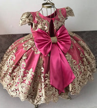 Load image into Gallery viewer, Baby Girl Dresses Lace Embroidery Christmas Dress Wedding Gown Children Clothing Kids Dresses - shopbabyitems