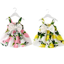 Load image into Gallery viewer, Baby Girls Clothes 2019 Sleeveless fruit Print Cotton Children Dresses - shopbabyitems