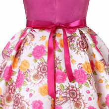 Load image into Gallery viewer, Baby Girls Dress Elegant Blooming Rose Flower Garden Cotton - shopbabyitems