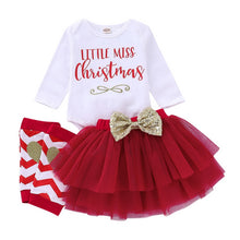 Load image into Gallery viewer, Baby Girls My 1st Christmas Costume Romper Tutu Skirt  Newborn Infant Toddler Princess Xmas Fancy Dress Up Party Outfit Set D30 - shopbabyitems
