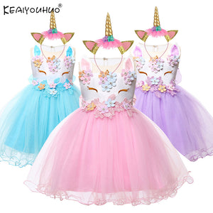 Baby Girls Unicorn Dress For Baby Girl Clothes Costume Kids - shopbabyitems