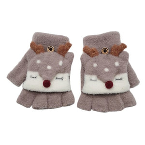 Baby Gloves Children Girl Boy Half Finger Cover Animal Warm Children's Mittens - shopbabyitems