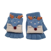 Load image into Gallery viewer, Baby Gloves Children Girl Boy Half Finger Cover Animal Warm Children's Mittens - shopbabyitems