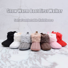 Load image into Gallery viewer, Baby Kid Boys Girls Knitted Fur Snow Boots Toddlers - shopbabyitems