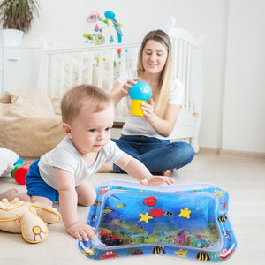 Baby Kids Water Play Mat Inflatable Infant Tummy Time Playmat Toddler for Baby Fun Activity Play Center Baby Toddler Toys - shopbabyitems