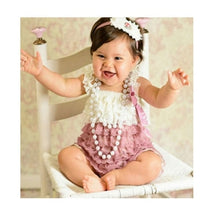 Load image into Gallery viewer, Baby Lace Rompers Infant Lace Romper with Straps Ribbon Bow Kids - shopbabyitems
