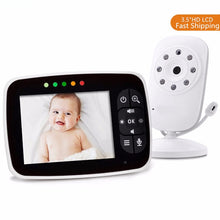 "Load image into Gallery viewer, Baby Monitor Video Baby Monitor 3.5"" LCD Screen Camera and Audio Night Vision - shopbabyitems"