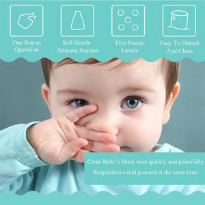 Baby Nasal Aspirator Electric Safe Hygienic Nose Cleaner With 2 Sizes Of Nose Tips And Oral Snot Sucker - shopbabyitems