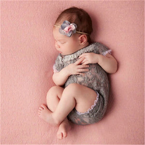 Baby Newborn Riding Suit Girl With Bow Clothing Kids Photography Props - shopbabyitems