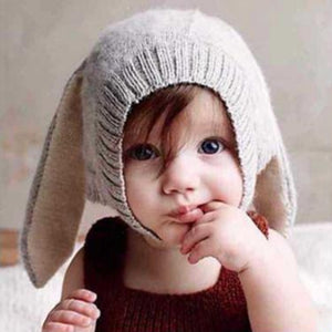 Baby Rabbit Ears Hat Infant Toddler Autumn Winter Knitted Caps for Children - shopbabyitems