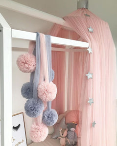 Baby Room Decoration Garland Ball Garland Bunting for Wedding or Party Children's Room Mosquito Net Crib Net Accessories - shopbabyitems