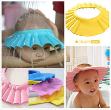 Load image into Gallery viewer, Baby Shower Adjustable Cap Children Shampoo Bath Wash Hair Shield Hat Bathing Bebes - shopbabyitems