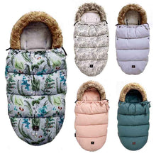 Load image into Gallery viewer, Baby Sleeping Bag baby footmuff with fake fur collar waterproof sleeping bag - shopbabyitems