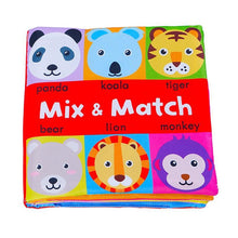 Load image into Gallery viewer, Baby Soft Books Toys For Toddlers Colorful Mix&Match Colorful Crinkle Early Learning Educational Toys For Infant 0-24 Months - shopbabyitems