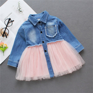 Baby Toddler Girls Tutu Dress long Sleeves Baby Girls' 1st Birthday Tutu Dress Easter Outfit Baby Girls Spring Dresses D30 - shopbabyitems
