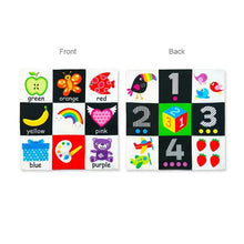 Load image into Gallery viewer, Baby Toys For Newborn Soft Cloth Book 0-12 Months Kids Learning Educational Black/White Cognition Rustle Sound Newspaper - shopbabyitems