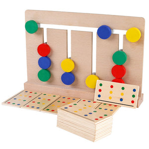 Baby Wooden Toy four-color game Montessori enlightenment teaching aids toys - shopbabyitems