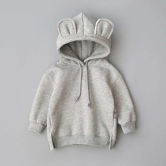 Baby coat Toddler Baby Kids Boy Girl clothes Hooded Cartoon 3D Ear Hoodie Sweatshirt Tops - shopbabyitems