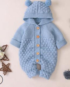 Baby knit Rompers Cartoon Bear Knitted autumn Newborn Boys Jumpsuits - shopbabyitems