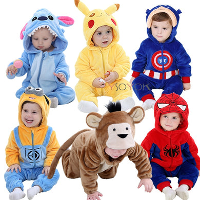 Baby rompers boy girl clothes new born baby costume jumpsuits Infant onesies winter stich pajamas - shopbabyitems