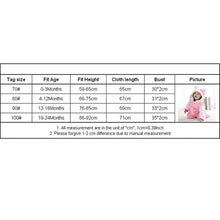 Load image into Gallery viewer, Baby rompers new born baby girls clothes Hooded pajamas mameluco - shopbabyitems