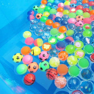 10pcs/lot Funny toy balls mixed Bouncy Ball Solid floating bouncing child elastic rubber ball of pinball bouncy toys - shopbabyitems