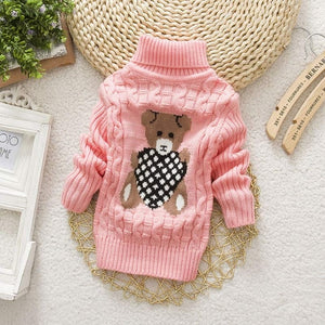 Bear Leader Girls Winter Sweaters 2020 New Fashion Autumn Kids Girl Solid Sweater Children Knitted Clothing Casual Outfit 1 8Y - shopbabyitems