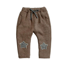 Load image into Gallery viewer, BibiCola kids winter warm sports pants baby boy girl pants newborn baby trousers plus thick velvet long pants Children legging - shopbabyitems