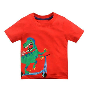 Cartoon Print Baby Boys Dinosaur T-Shirt - shopbabyitems