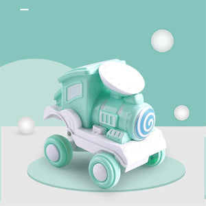 Children Cartoon Stunt Train Inertia Car Toy Vehicles Stunt Rolling Car Model - shopbabyitems