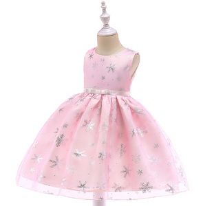 Baby Girl Silk Princess Dress for Wedding party Kids Dresses - shopbabyitems