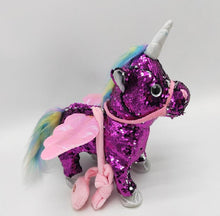 Load image into Gallery viewer, Walk Singing Electric Unicorn Pegasus Plush Toy Doll - shopbabyitems