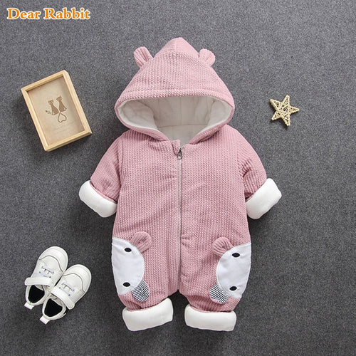CYSINCOS Baby Rompers Overalls Clothes 2020 Winter Boy Girl Garment Thicken Warm Cotton Outerwear Coat Jacket Kids Snow Wear - shopbabyitems
