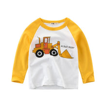 Load image into Gallery viewer, CYSINCOS Spring and Autumn Long Sleeve Boys Cartoon Car Print T-shirt  Kids Clothes Baby Casual Tops Tees Children T Shirt - shopbabyitems
