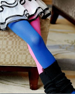 Candy Color Mixed Tights for girls Patchwork Baby Girl Stretch Trouser Skinny Pants Kids Dance Tights Pantyhose Stocking 3-9Y - shopbabyitems