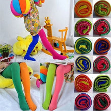 Load image into Gallery viewer, Candy Color Mixed Tights for girls Patchwork Baby Girl Stretch Trouser Skinny Pants Kids Dance Tights Pantyhose Stocking 3-9Y - shopbabyitems