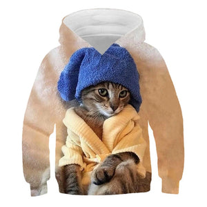 Cat Kawaii Animal Toddler Girl Hoodie Winter Boys Clothes Kids Baby Sweatshirts Fashion Casual Harajuku Children Warm Moletom - shopbabyitems