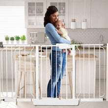 Load image into Gallery viewer, Child Safety Gate Fixed plate Baby Fence Reinforcement Groove Stairs Barrier - shopbabyitems
