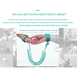 Child Safety Harness Leash Anti Lost Wristband Strap Link Traction Rope - shopbabyitems