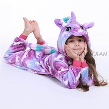 Load image into Gallery viewer, Children Pijama Unicornio Infantil Kids Warm Unicorn Rainbow Pajama Pyjamas Boys Baby Girl Clothes Animal  Pijamas 4-10Y - shopbabyitems