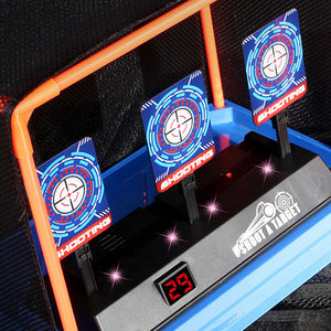 Children Running Shooting Targets with Net Frame Electronic Scoring Auto Reset - shopbabyitems