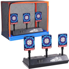 Load image into Gallery viewer, Children Running Shooting Targets with Net Frame Electronic Scoring Auto Reset - shopbabyitems