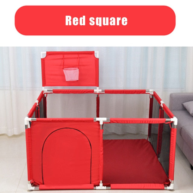 Children's Playpen for Baby Playpen for Children Kids Ball Pit Playpen Baby Playground Basketball Court Indoor Football Field - shopbabyitems