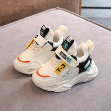 Load image into Gallery viewer, Spring Boys Girls Off White Shoes Brand Baby Toddler Leather Casual Shoes Fashion Kids Sneakers - shopbabyitems