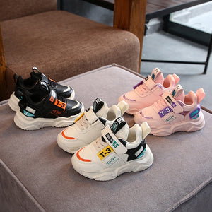 Spring Boys Girls Off White Shoes Brand Baby Toddler Leather Casual Shoes Fashion Kids Sneakers - shopbabyitems