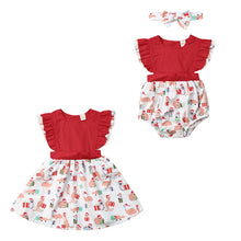 Load image into Gallery viewer, Christmas Clothing  Newborn Kids Baby Girls Sleeveless Romper Dress Xmas Outfits - shopbabyitems