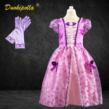 Load image into Gallery viewer, Christmas Halloween Costume Child Rapunzel Dress Birthday Party Fairy Sofia Frock for Girls - shopbabyitems